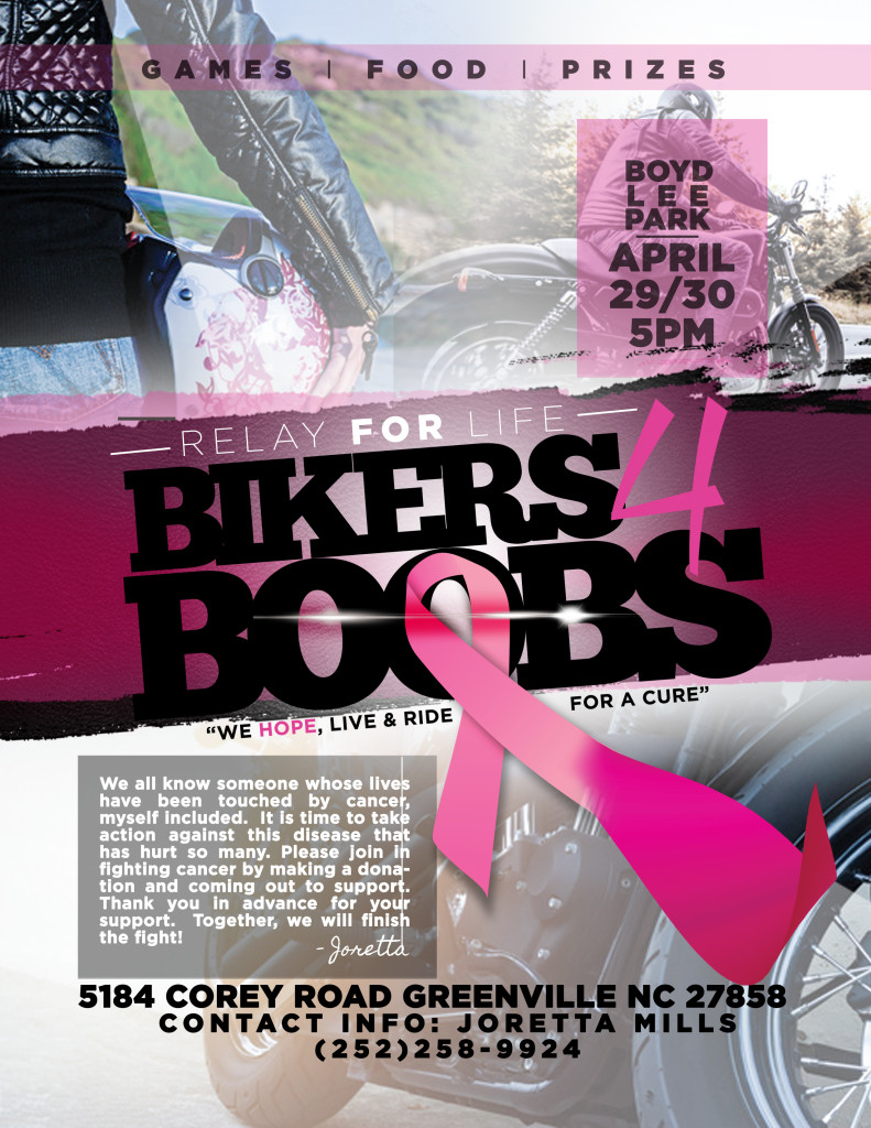 BIKERS AND BOOBS FLYER 2016
